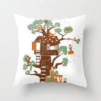 Mon arbre Throw Pillow