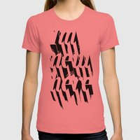 IM NEW HERE Womens Fitted Tee Pomegranate SMALL