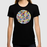 Button Box Womens Fitted Tee Black SMALL
