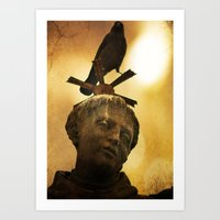 The Watcher Of  Charles … Art Print