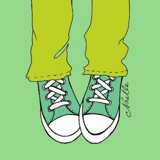 "Turquoise ""Kicks"" Art Print"