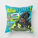AlieYUMS! (blue variant) Throw Pillow