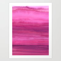 Waves - Sunset Art Print