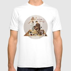 Just Gimme Indie Rock | Collage White SMALL Mens Fitted Tee