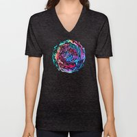 Objects Floating in Aurora2 Unisex V-Neck
