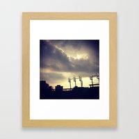 Baseball Night  Framed Art Print