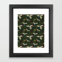 JUNGLE GREEN Framed Art Print