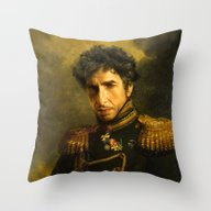 Bob Dylan - Replaceface Throw Pillow