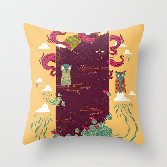 Nighttime Throw Pillow