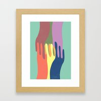 All Together Now Framed Art Print