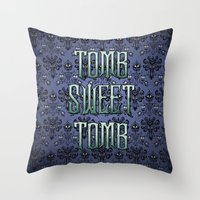 Haunted Mansion - Tomb Sweet Tomb Throw Pillow