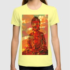 Red Buddha Womens Fitted Tee Lemon SMALL