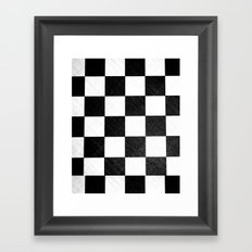 Dirty checkers Framed Art Print
