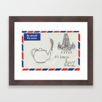 A Parisian, British Tea Framed Art Print