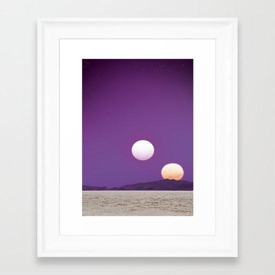 Binary Sunset Framed Art Print