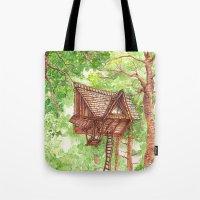 Treehouse Retreat Tote Bag