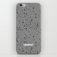 Retro Speckle Print - Gr… iPhone & iPod Skin