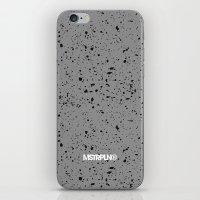 Retro Speckle Print - Grey iPhone & iPod Skin
