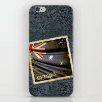 Grunge sticker of Australia flag iPhone & iPod Skin