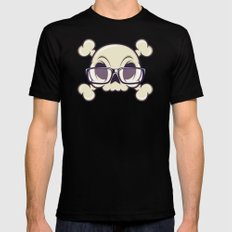 Nerd Skull SMALL Black Mens Fitted Tee
