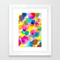 Confetti paint TWO Framed Art Print