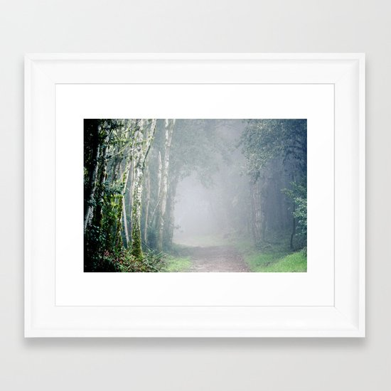 Foggy Trails Framed Art Print