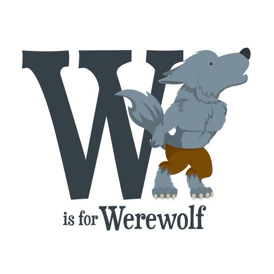 W is for Werewolf Art Print