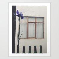 Flowers In The Window Art Print