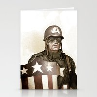 Captain America Stationery Cards