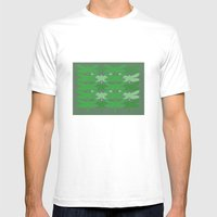 Green Dragonflies Mens Fitted Tee White SMALL