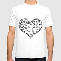 Amore Mens Fitted Tee White SMALL