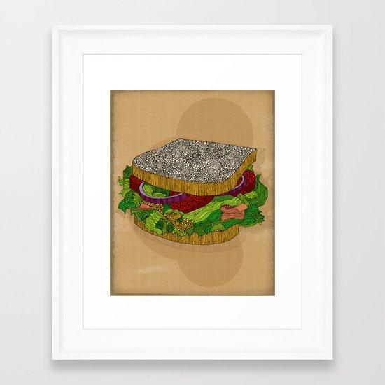 Sanduchito Framed Art Print