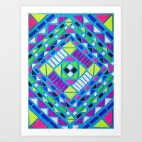 native Art Prints featuring Native by Erin Jordan