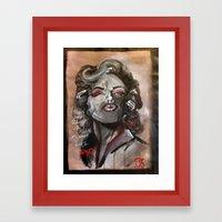 Marilyn Monroe XOXO Framed Art Print