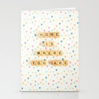 Home Is Where You Are Stationery Cards