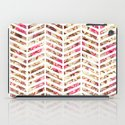 Pink Vintage Floral Girly Chevron Zig Zag Pattern iPad Case