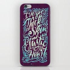 Elastic Heart Color iPhone & iPod Skin