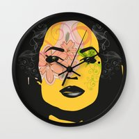 Mysterious Woman 1 Wall Clock