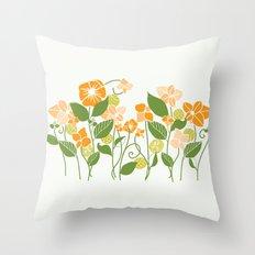 Karis Flowers Throw Pillow