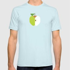 Fruit: Apple Golden Delicious SMALL Mens Fitted Tee Light Blue