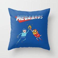 Mega Bros Throw Pillow