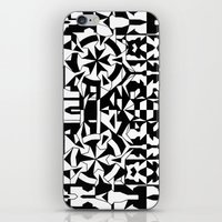Black And White Square 1 iPhone & iPod Skin