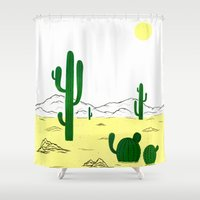 Man & Nature - The Deser… Shower Curtain