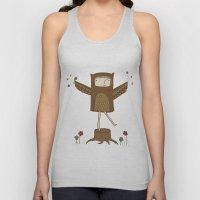 Little Owl Girl Unisex Tank Top
