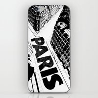 Cities in Black - Paris iPhone & iPod Skin