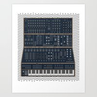 Modular Synth Art Print