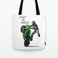 Stunt My Passion Tote Bag
