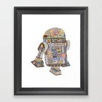 R2D2 Crashed Into A Flow… Framed Art Print