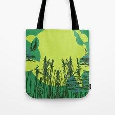 Grassy Sunset. Tote Bag