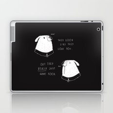 the emotional ups and downs of being a dog owner Laptop & iPad Skin